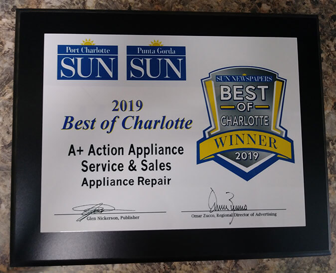 Action Appliance  Best of Charlotte Award
